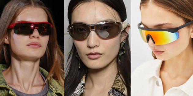 Женские солнцезащитные очки в спортивном стиле