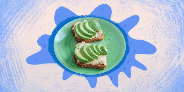 Полезная еда: сэндвич с творогом и авокадо