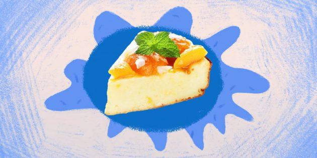 Полезная еда: творожная запеканка с персиками