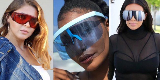 Женские солнцезащитные очки-маска