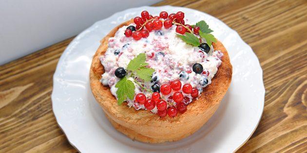 Творожно-сметанный крем для торта