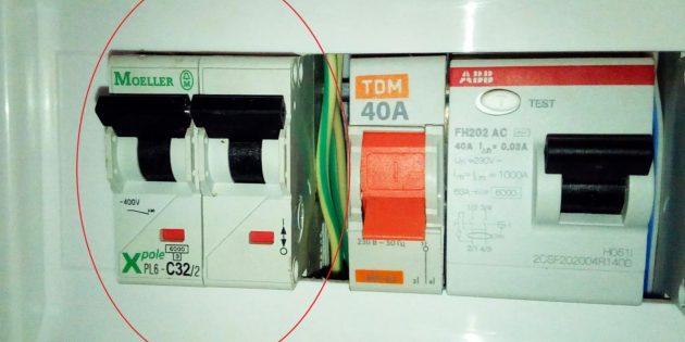 Установка выключателя: отключите электричество