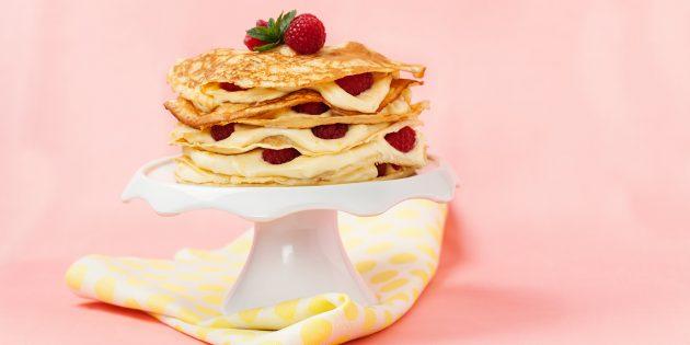 Кефирный заварной крем для торта: простой рецепт