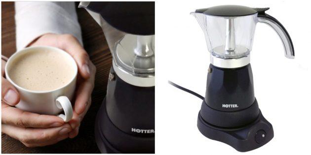 Электрическая гейзерная кофеварка HOTTER HX-445