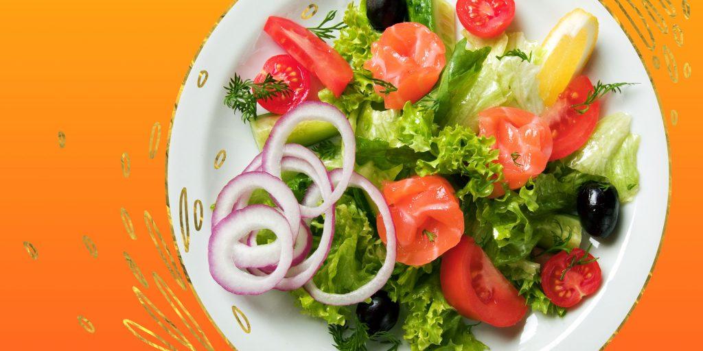 Салат семгой очень вкусный
