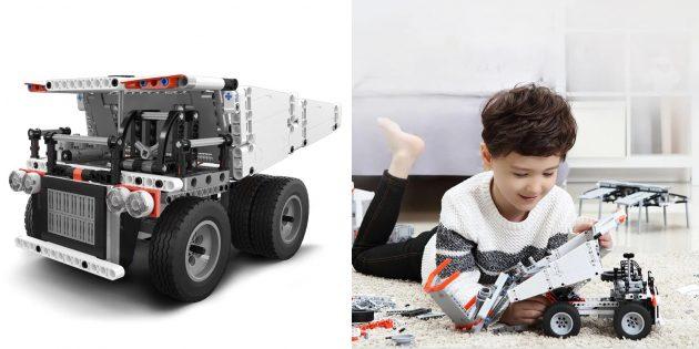 Роботы для детей и взрослых: Xiaomi Mi Bunny Building Block Mine Truck