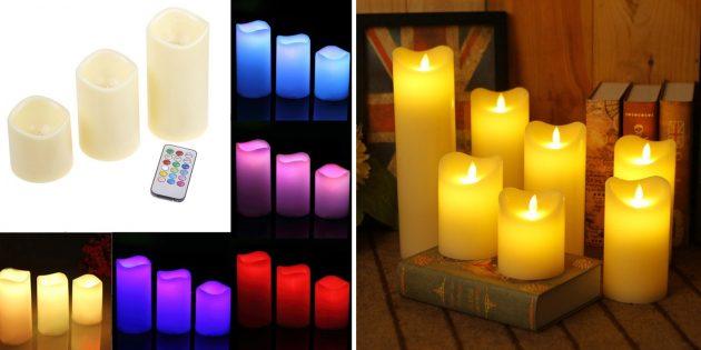 Светодиодные свечи с пультом