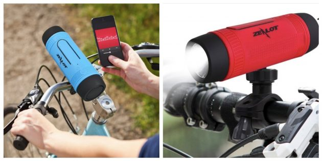 Гаджеты для велосипедов: Водонепроницаемый динамик