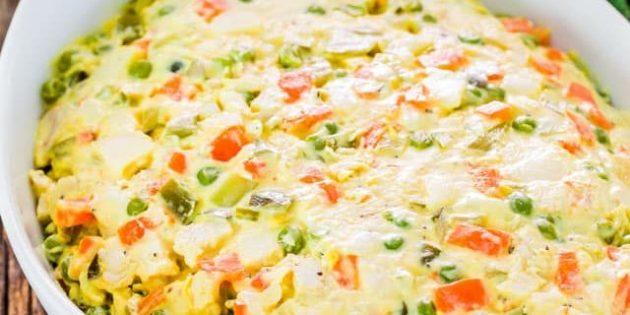 Как сделать салат с говядиной, картофелем, морковью и горошком