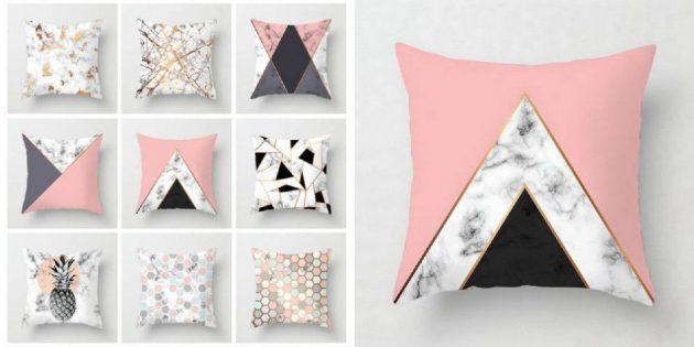 Подушки с геометрическим принтом