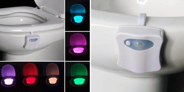 Цветная подсветка для унитаза