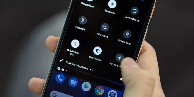 В Android Q появится глобальная тёмная тема