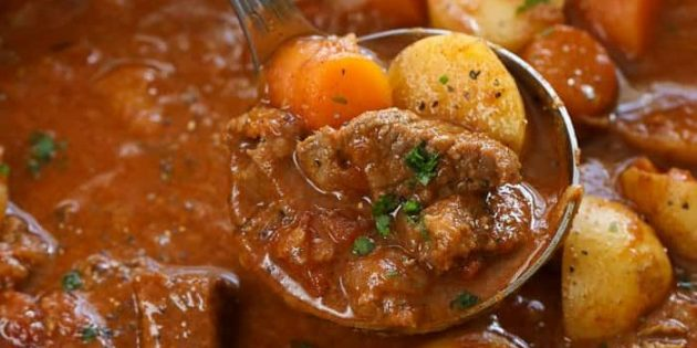 Рецепты: гуляш из говядины с картошкой