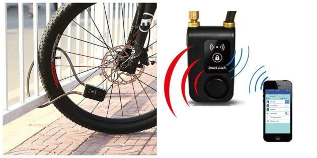 Гаджеты для велосипедов: Противоугонный замок