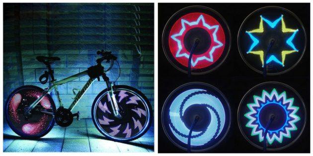 Гаджеты для велосипедов: Подсветка для колёс