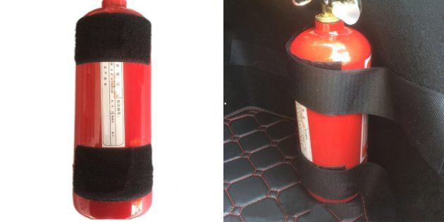 Ленты для фиксации огнетушителя
