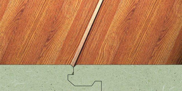Как выбрать ламинат: По форме профиля фаски разделяют на полукруглые U-образные и клиновидные V-образные