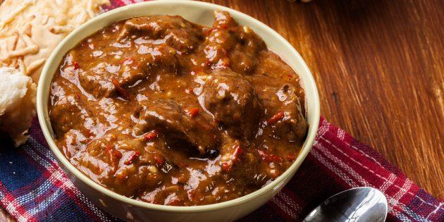 Рецепт гуляша из говядины по-венгерски