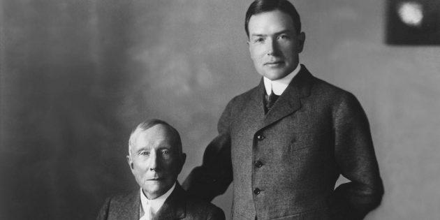 Джон Рокфеллер с сыном Джоном