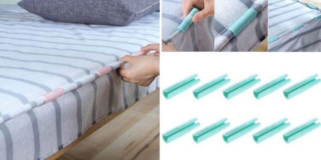 Фиксаторы для постельного белья