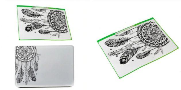 Наклейка на ноутбук с ловцом снов