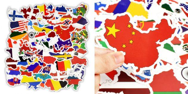 Стикеры с разными странами