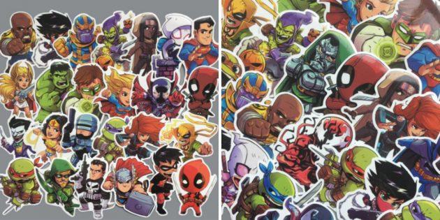 Наклейка на ноутбук с супергероями