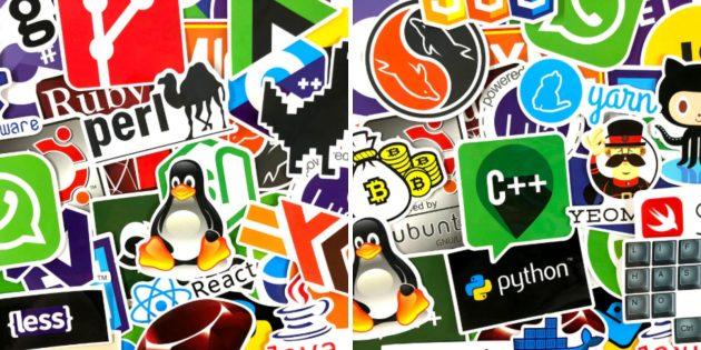 Наклейка на ноутбук для программистов