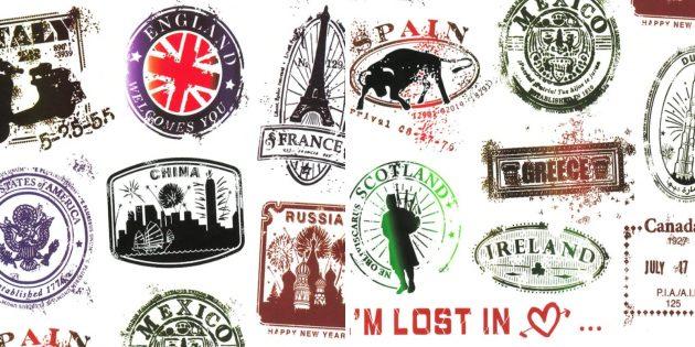 Стикеры путешественника