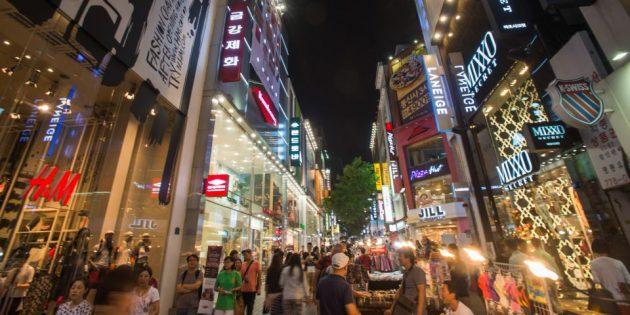 Достопримечательности Южной Кореи: торговая улица Мёндон