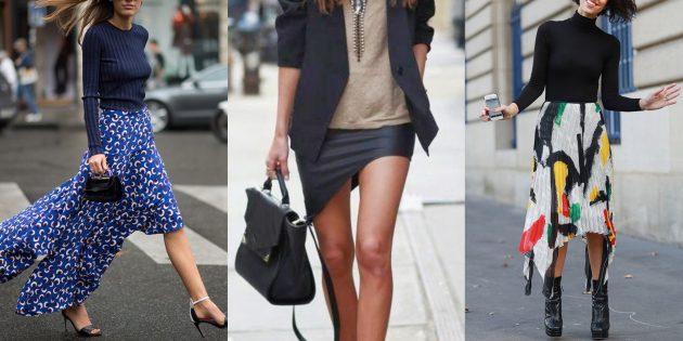 Асимметричные модные юбки 2019года