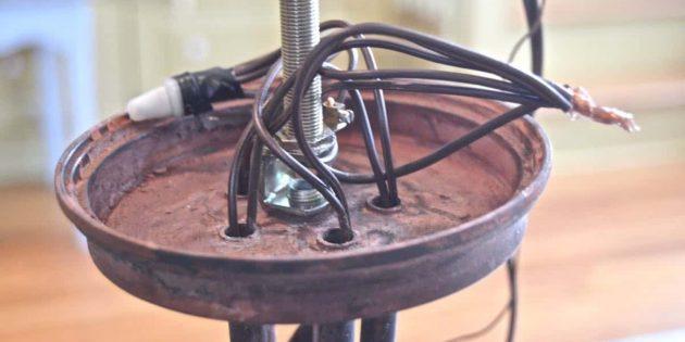 Как подключить люстру: Проверьте провода люстры