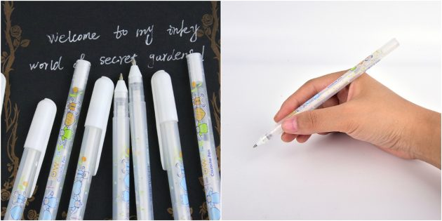 Ручка с белыми чернилами
