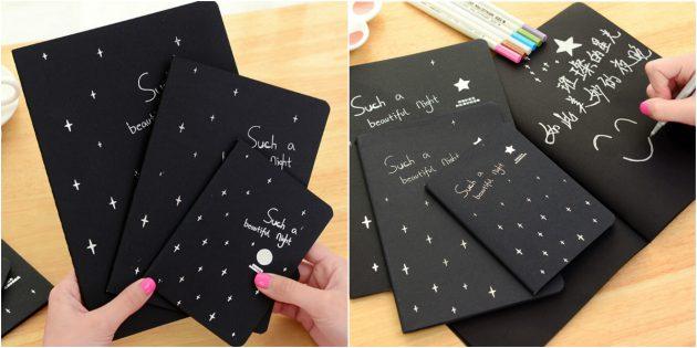 Блокнот с чёрной бумагой