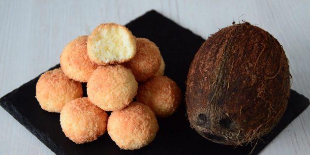 Рецепты: кокосовое печенье с яйцами