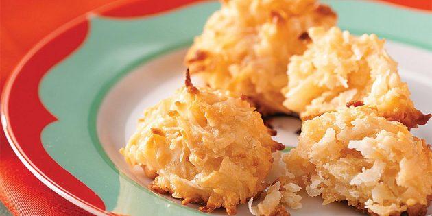Рецепты: кокосовое печенье со сгущёнкой