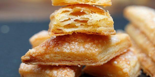 Как приготовить простое слоёное печенье
