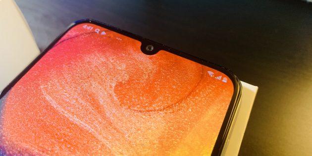 Samsung Galaxy A30 и Samsung Galaxy A50: вырез