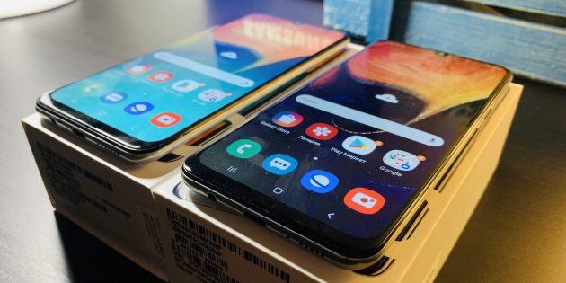 Samsung Galaxy A30 и Samsung Galaxy A50: дисплей