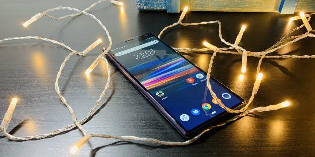 Sony Xperia 10Plus: экран
