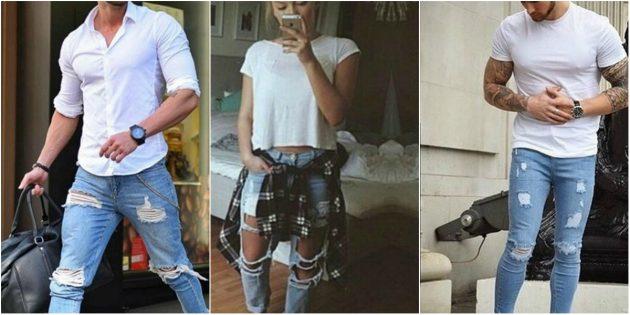 Модная одежда: образы с джинсами