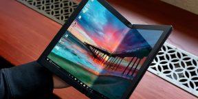 Lenovo показала первый в мире сгибаемый ноутбук ThinkPad X1