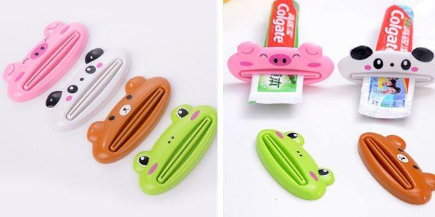 Дозатор для зубной пасты в виде животных