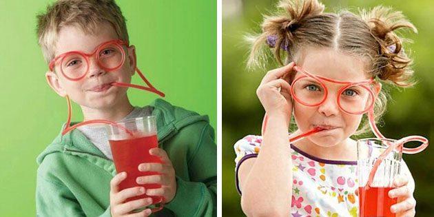 Питьевая соломинка в виде очков