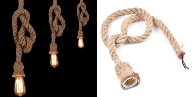 Потолочная лампа-веревка