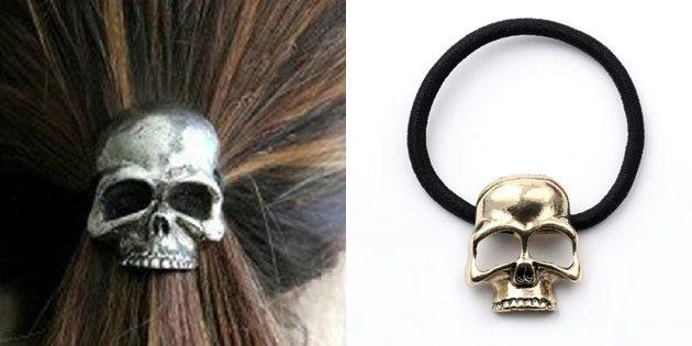 Резинка для волос в форме черепа