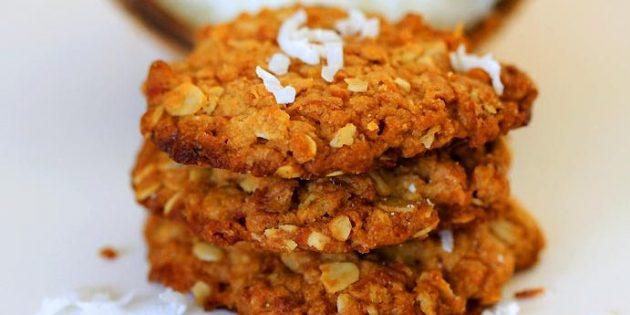 Овсяно-кокосовое печенье: рецепты