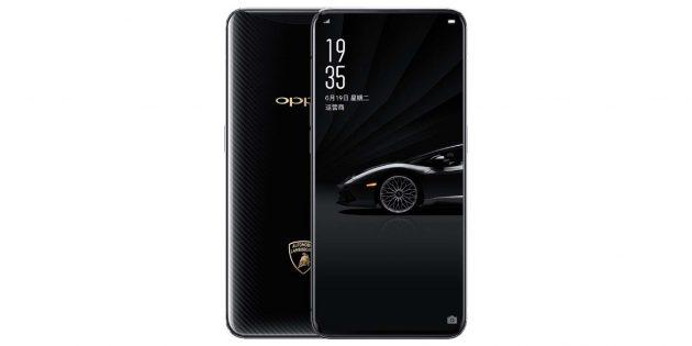 Смартфоны OPPO: Одна из версий OPPO Find X была выпущена в дизайне спортивных автомобилей Lamborghini