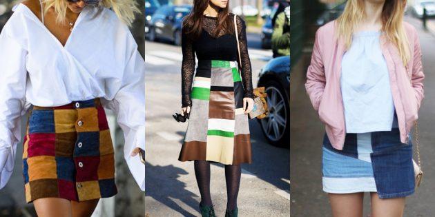 Модные юбки 2019года в стиле пэчворк
