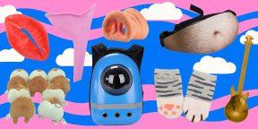 Жидкие брови, кошка-воришка и надувной костюм сумоиста: 100 безумных товаров из Китая